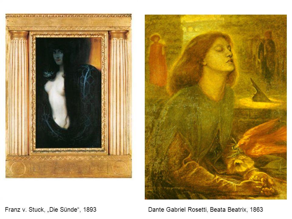 Franz v. Stuck, Die Sünde, 1893 Dante Gabriel Rosetti, Beata Beatrix, 1863