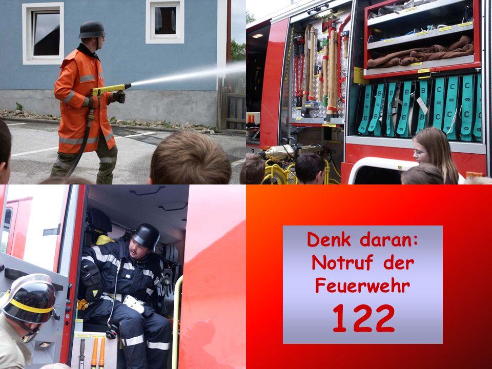 Denk daran: Notruf der Feuerwehr 122