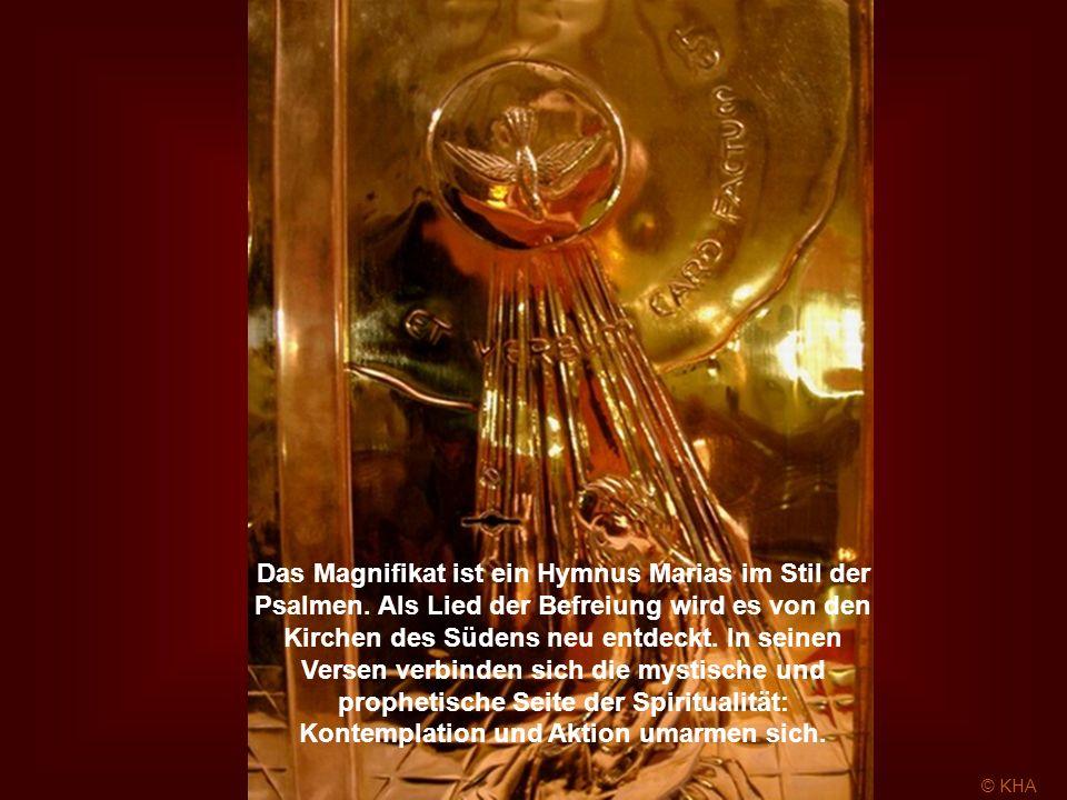 das er unseren Vätern verheißen hat, Abraham und seinen Nachkommen auf ewig. (Lk 1,46b-55)