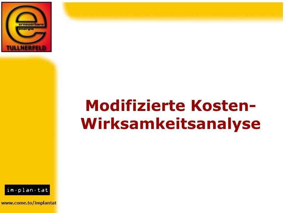 www.come.to/implantat Modifizierte Kosten- Wirksamkeitsanalyse