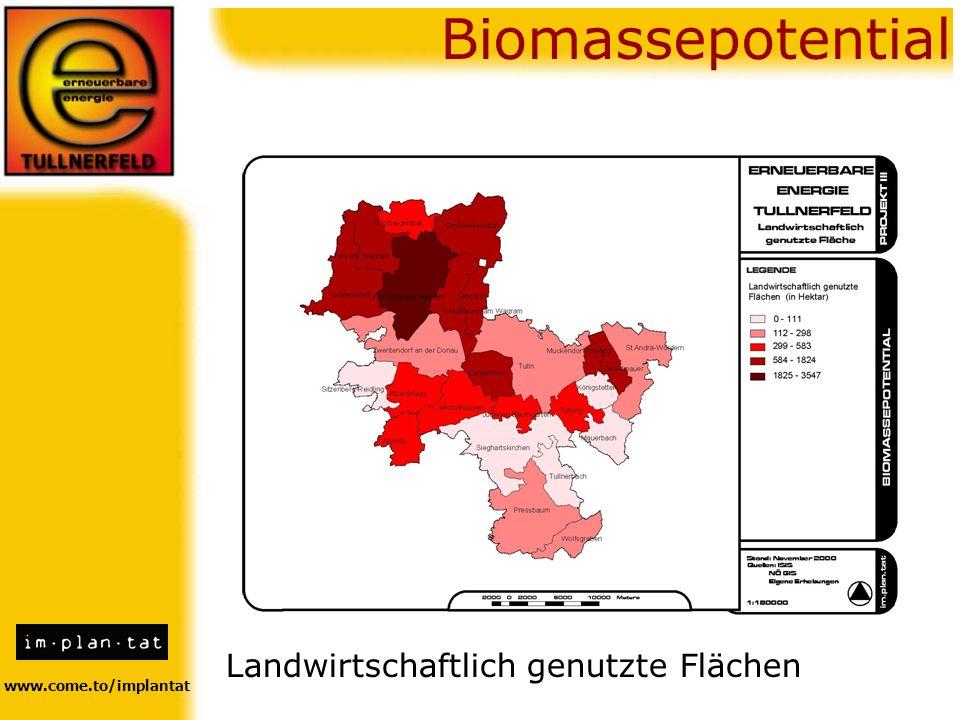 www.come.to/implantat Biomassepotential Landwirtschaftlich genutzte Flächen