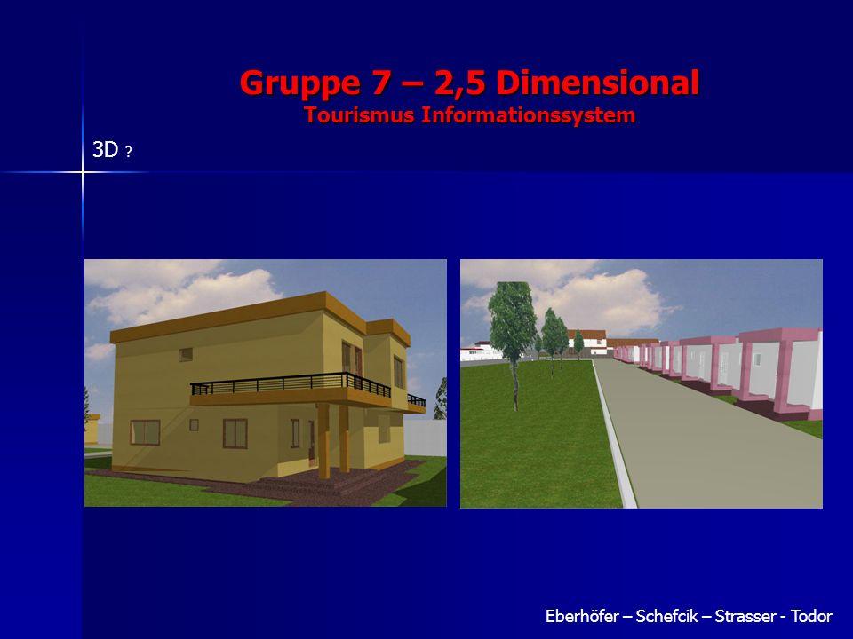 Eberhöfer – Schefcik – Strasser - Todor Gruppe 7 – 2,5 Dimensional Tourismus Informationssystem 3D ?