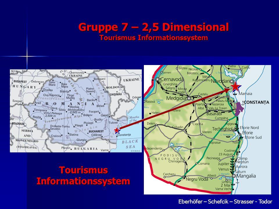 Eberhöfer – Schefcik – Strasser - Todor Gruppe 7 – 2,5 Dimensional Tourismus Informationssystem Tourismus Informationssystem