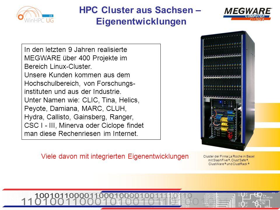 HPC Cluster aus Sachsen – Eigenentwicklungen ClustStore ® Lösung: ClustStor ® als Ethernet o.