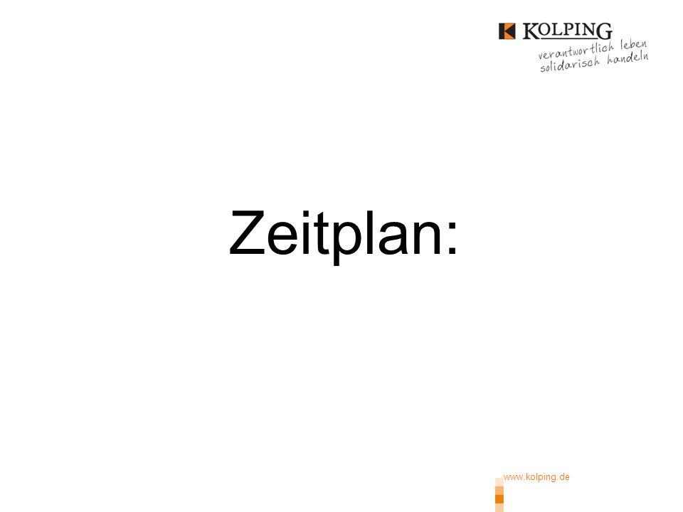 www.kolping.de | 16 1.Phase: Juni/Juli an KF 2. Phase: Info Mitglieder (9/14) 3.