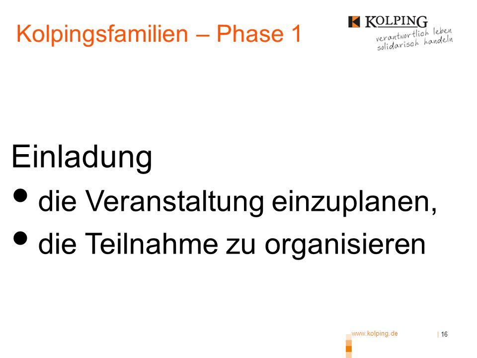 www.kolping.de | 16 Einladung, sich durch ermutigende Beiträge an der Veranstaltung zu beteiligen und zum Gelingen beizutragen.