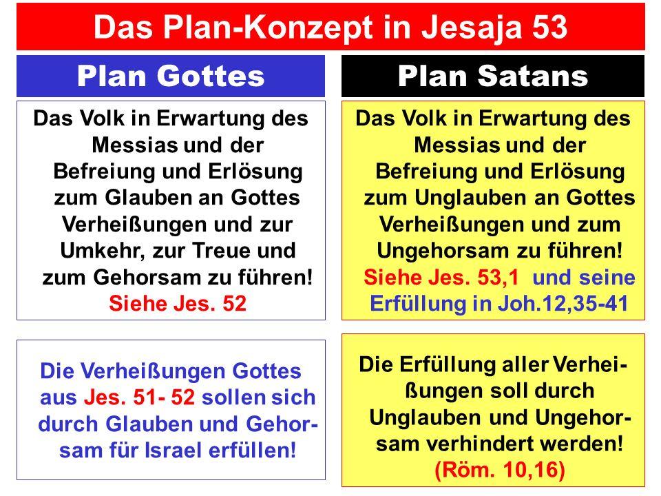 Plan GottesPlan Satans Das Volk in Erwartung des Messias und der Befreiung und Erlösung zum Glauben an Gottes Verheißungen und zur Umkehr, zur Treue u