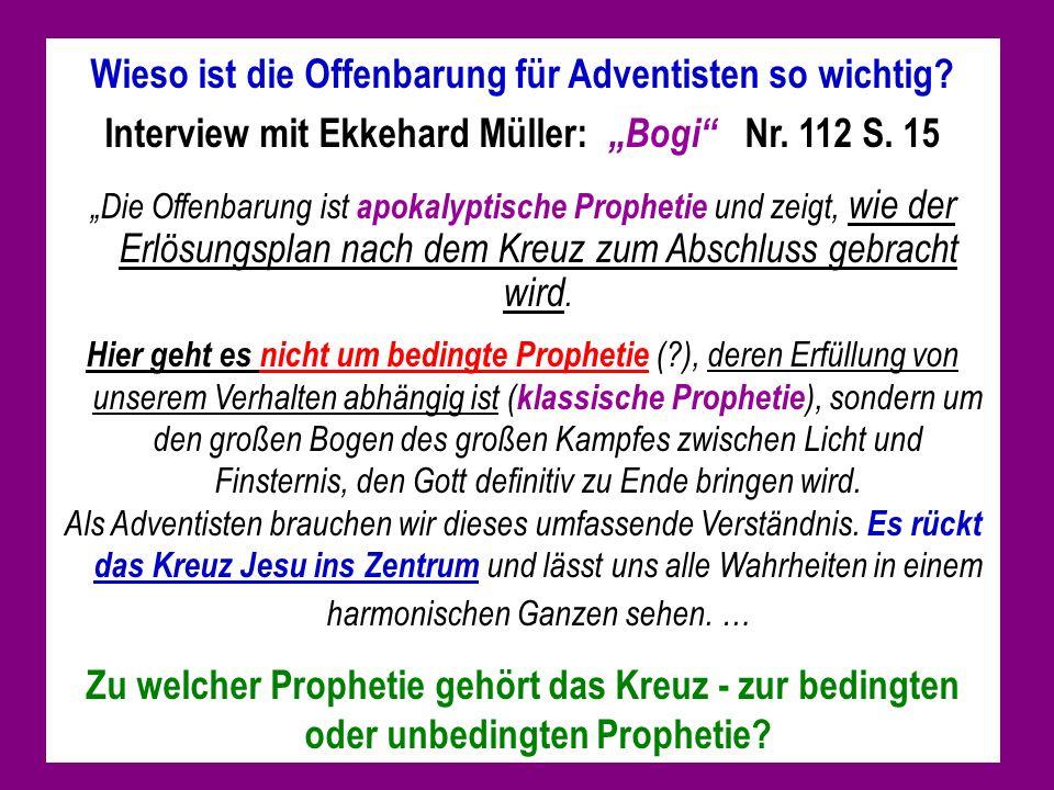 Wieso ist die Offenbarung für Adventisten so wichtig.