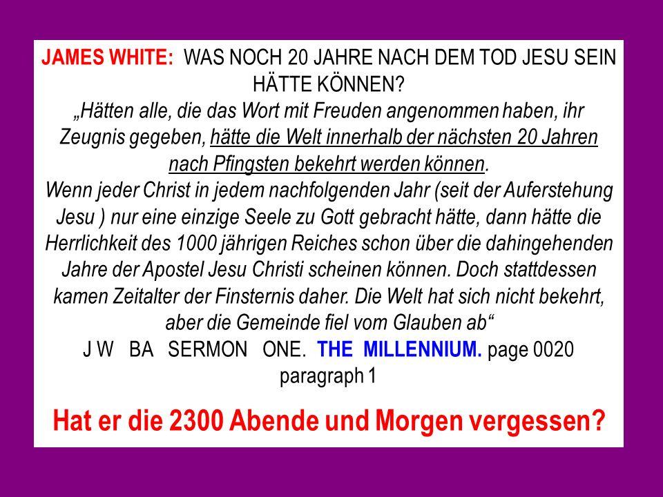 JAMES WHITE: WAS NOCH 20 JAHRE NACH DEM TOD JESU SEIN HÄTTE KÖNNEN.