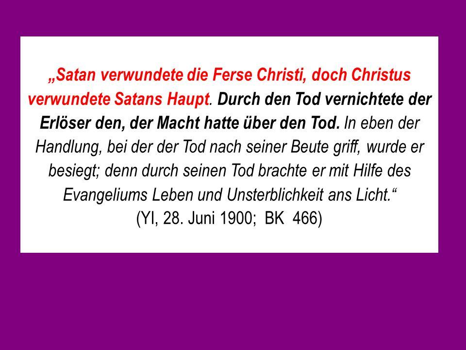 Satan verwundete die Ferse Christi, doch Christus verwundete Satans Haupt.