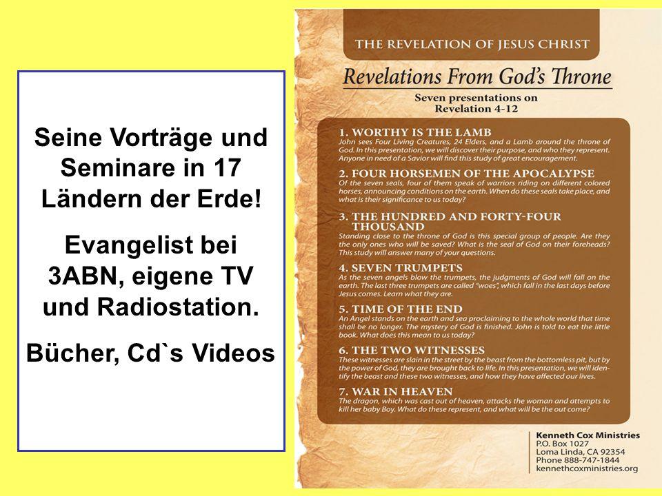 Seine Vorträge und Seminare in 17 Ländern der Erde.