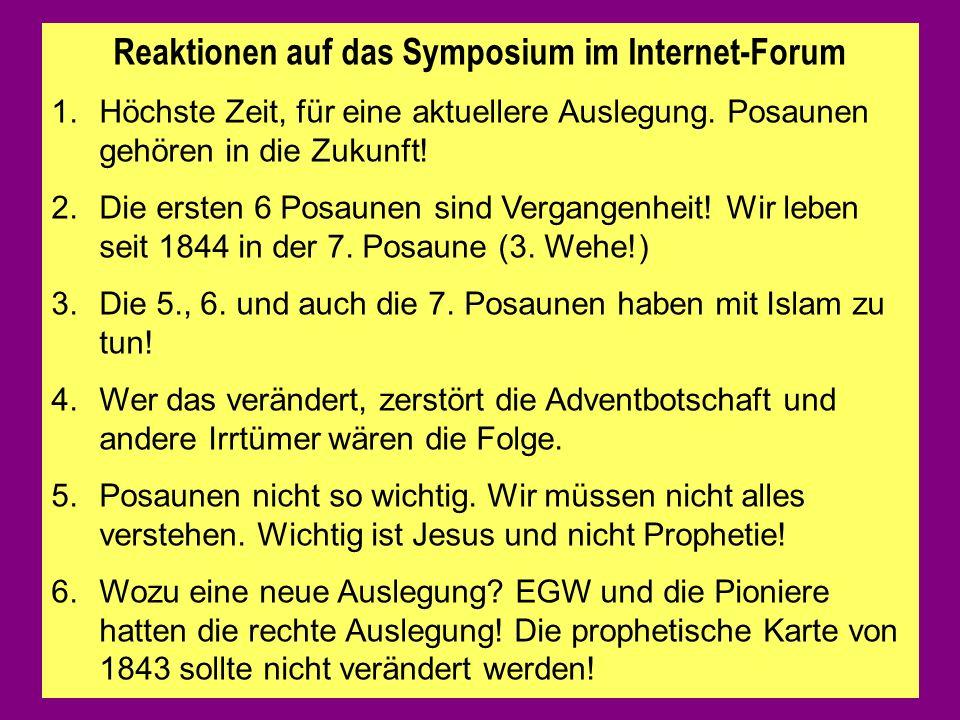 Reaktionen auf das Symposium im Internet-Forum 1.Höchste Zeit, für eine aktuellere Auslegung.