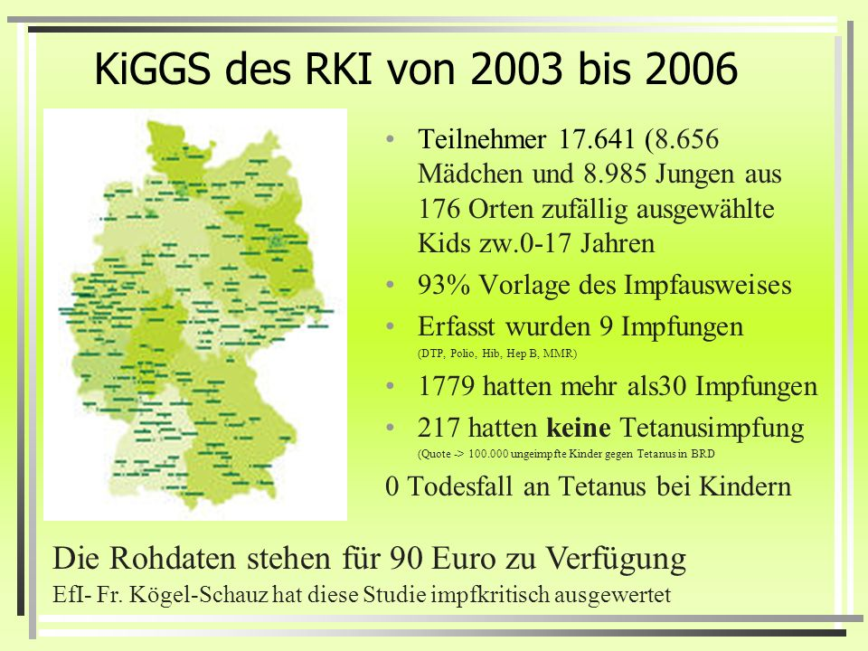 Neuseeländische Umfrage 1992 Immunisation Awareness Society http://www.ias.org.nz/prelim:_survey_results.htm http://www.ias.org.nz/prelim:_survey_resu