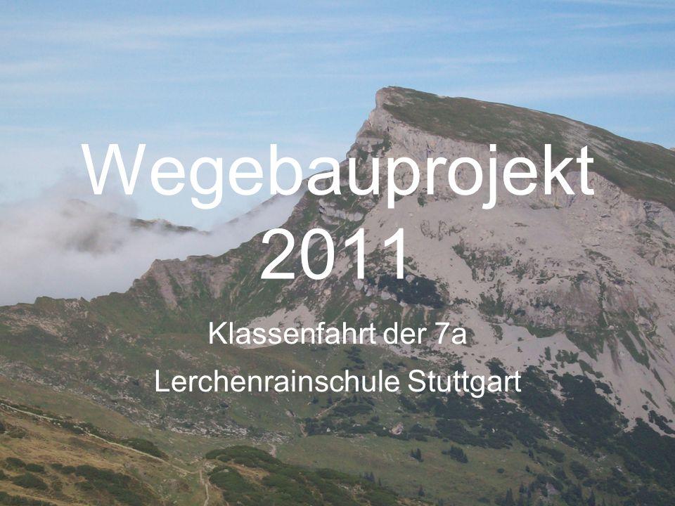 Wegebauprojekt 2011 Klassenfahrt der 7a Lerchenrainschule Stuttgart