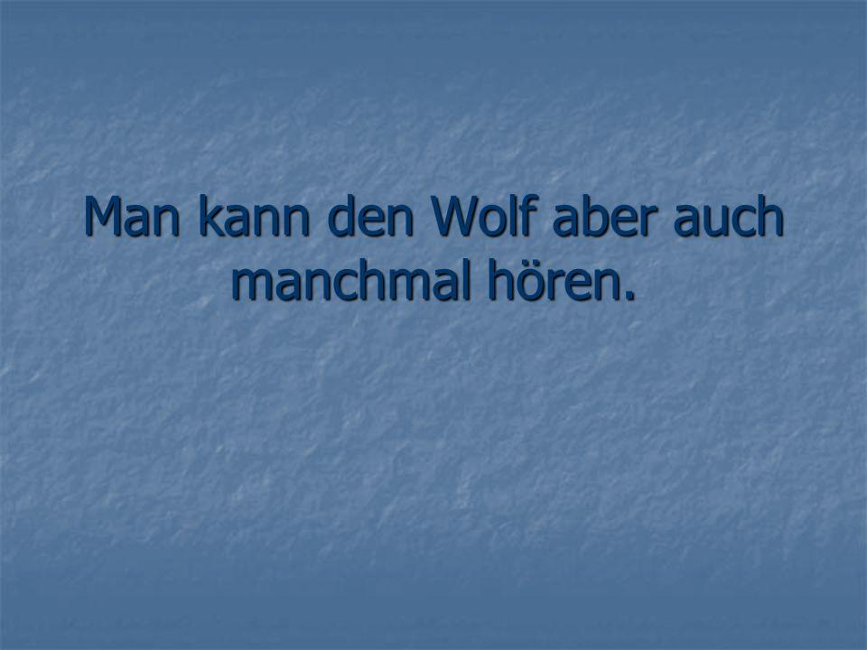 Man kann den Wolf aber auch manchmal hören.