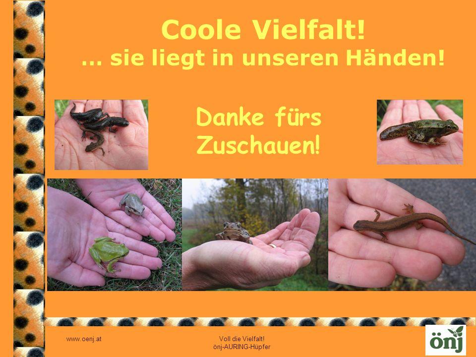 www.oenj.at Voll die Vielfalt! önj-AURING-Hüpfer Coole Vielfalt! … sie liegt in unseren Händen! Danke fürs Zuschauen!