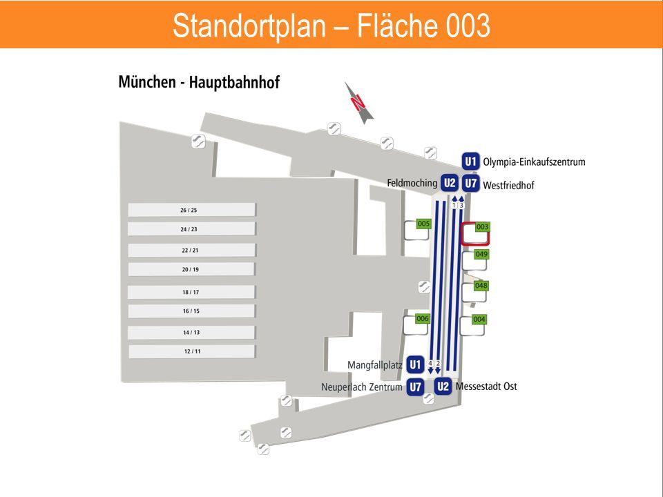 Hauptbahnhof – Fläche 401 6 Standortplan – Fläche 003