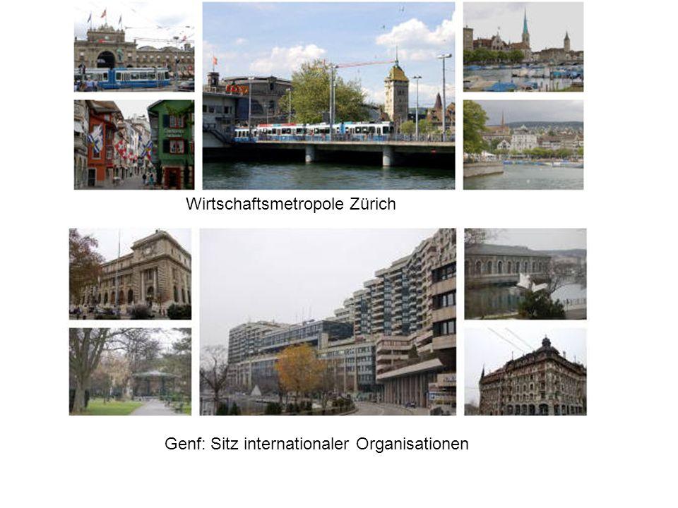 Wirtschaftsmetropole Zürich Genf: Sitz internationaler Organisationen