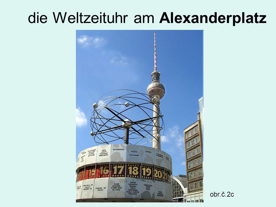 die Weltzeituhr am Alexanderplatz obr.č.2c