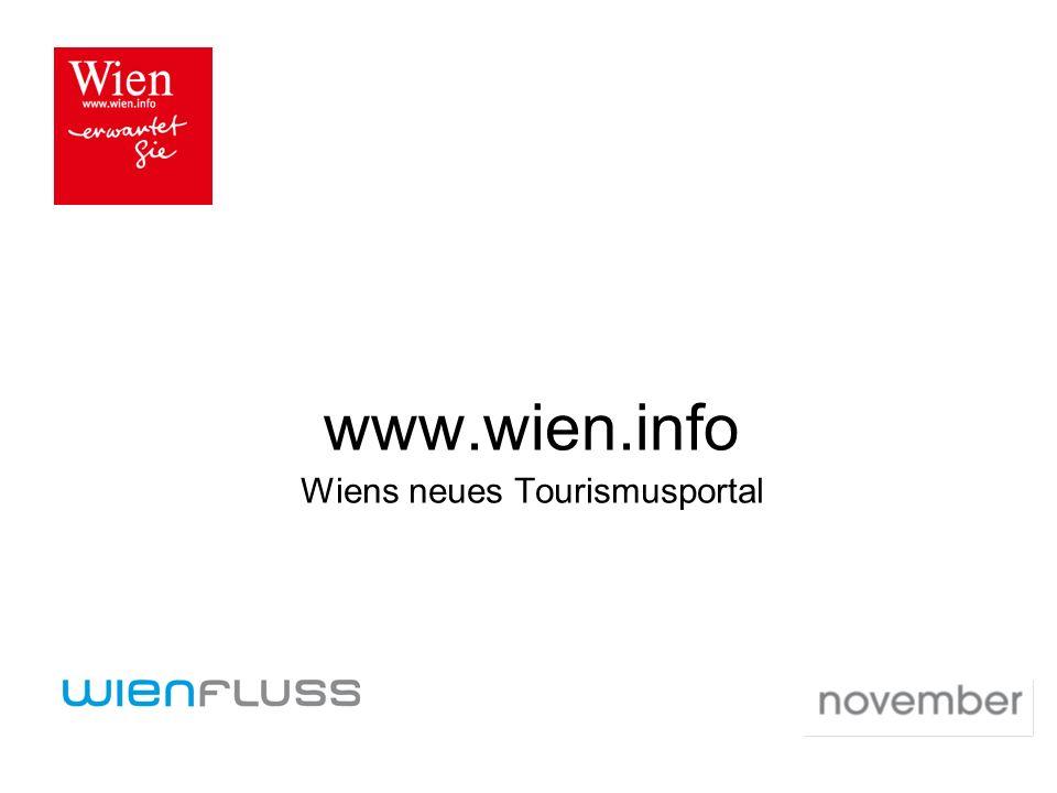www.wien.info Wiens neues Tourismusportal