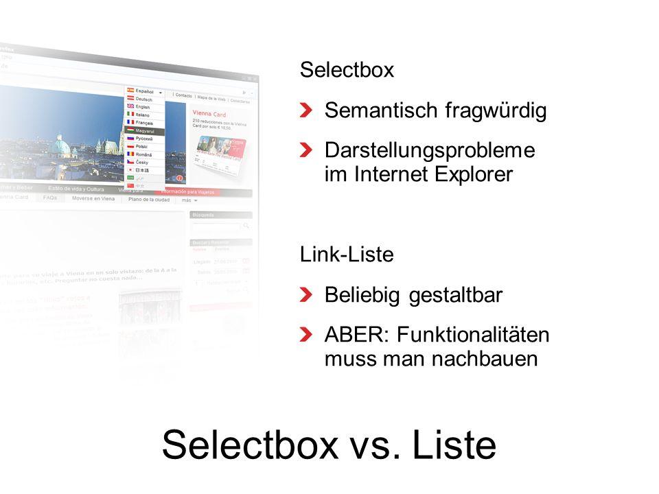 Selectbox vs.