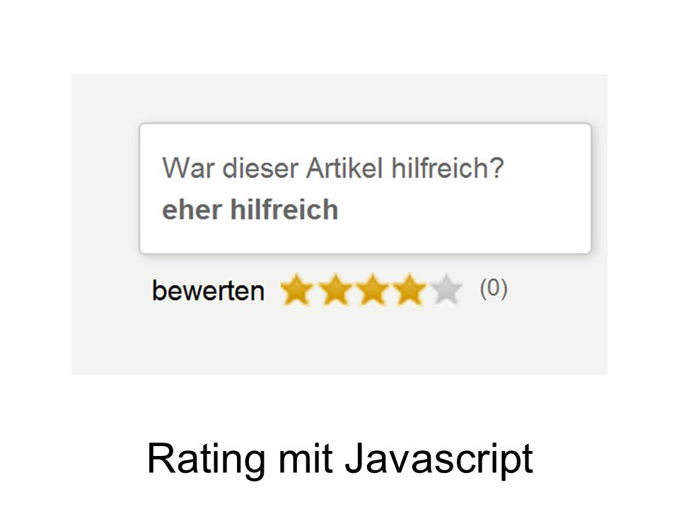 Rating mit Javascript