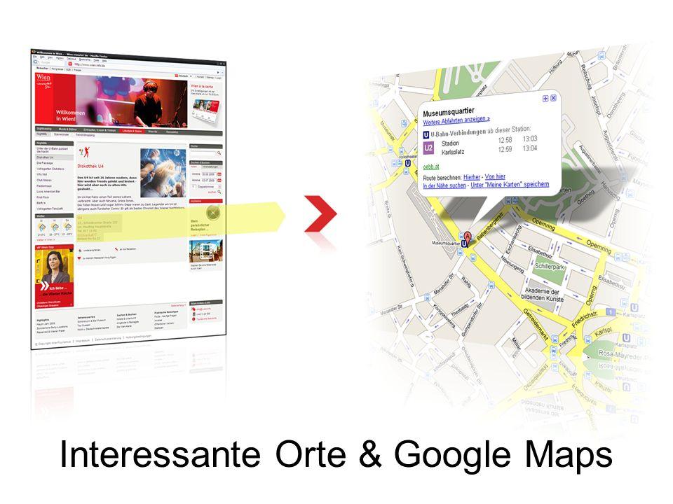 Interessante Orte & Google Maps