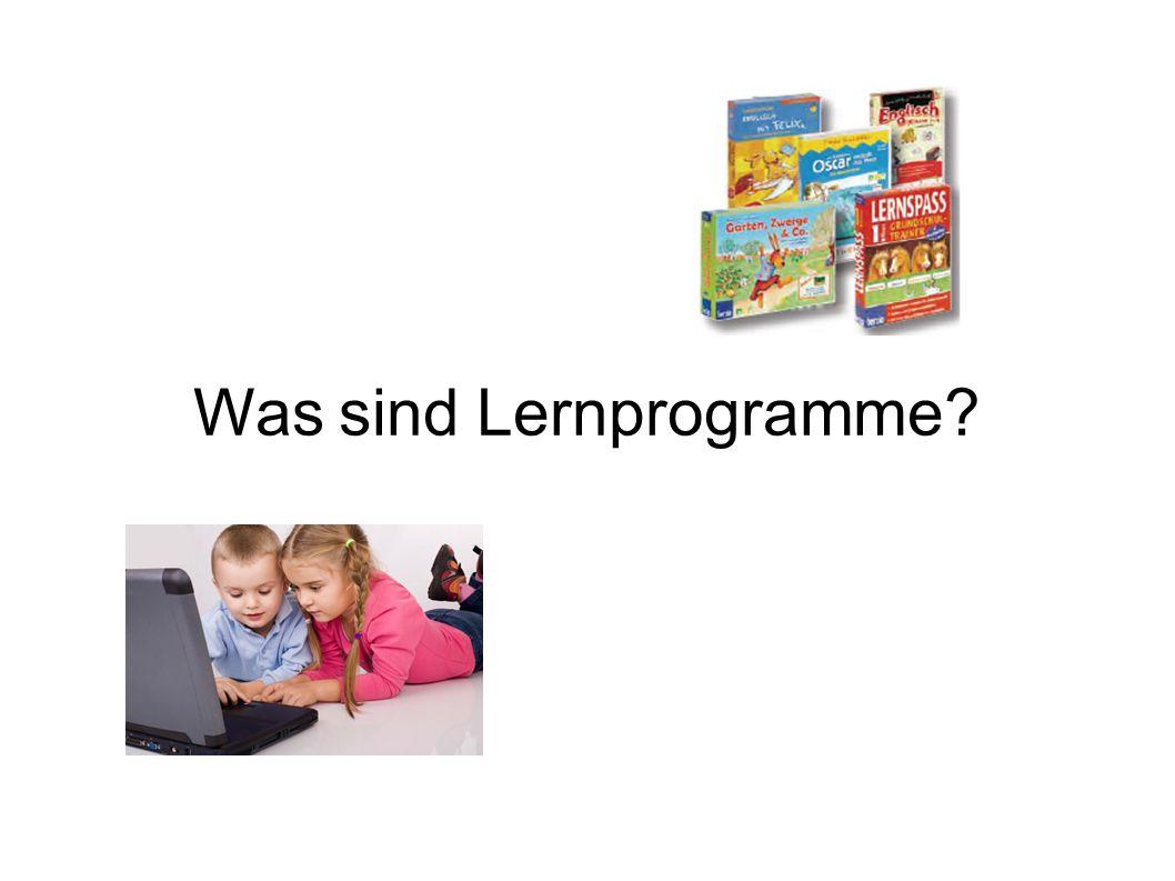 Was sind Lernprogramme?