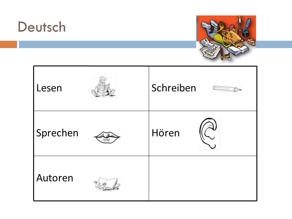 Deutsch LesenSchreiben SprechenHören Autoren