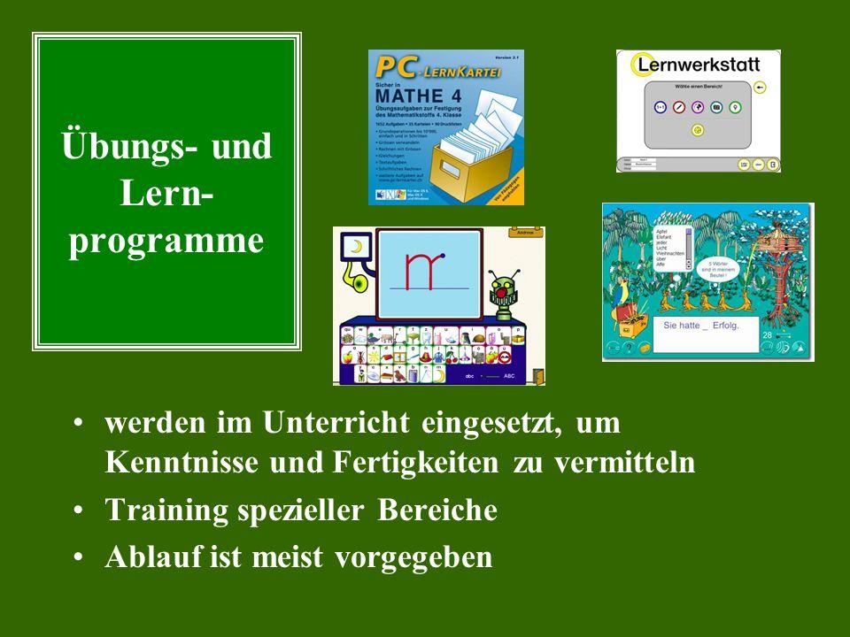 Simula- tions- programme Themenbe- zogene Daten- Bestände Themenbe- zogene Programm- umgebungen Intelligente tutorielle Systeme Werkzeuge zur Modellbi
