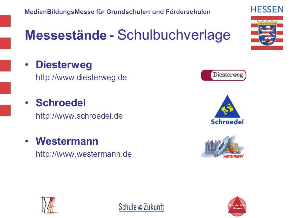 MedienBildungsMesse für Grundschulen und Förderschulen Messestände - Schulbuchverlage Diesterweg http://www.diesterweg.de Schroedel http://www.schroed