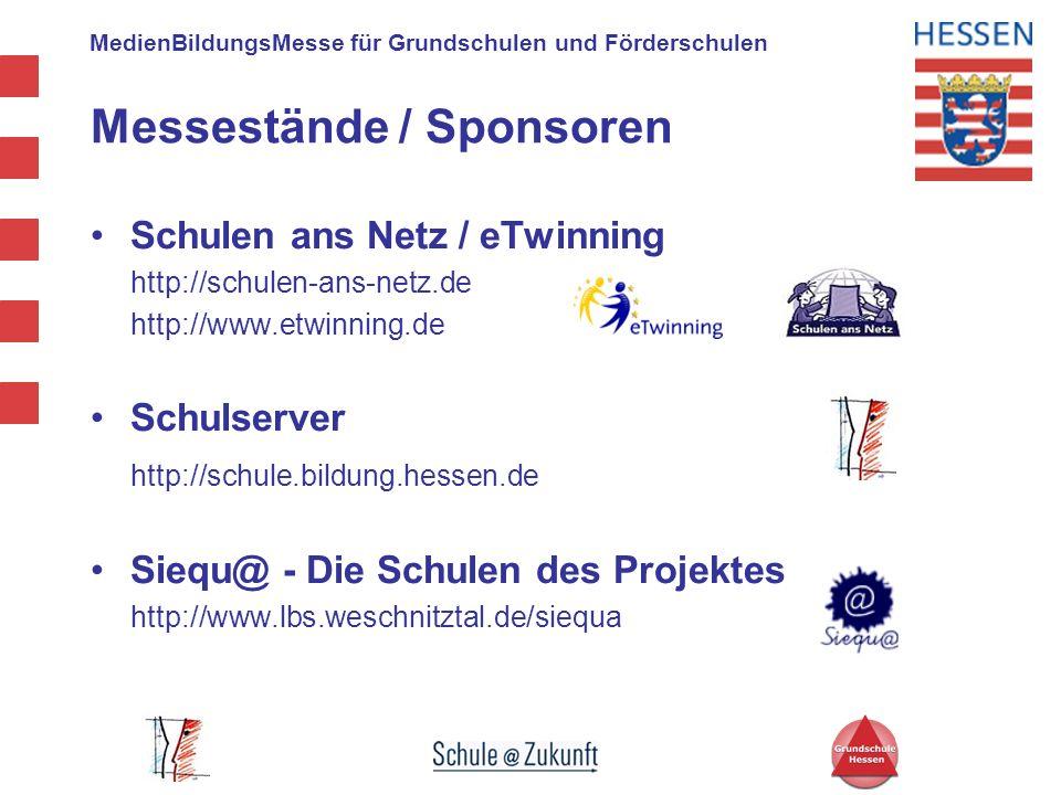 MedienBildungsMesse für Grundschulen und Förderschulen Schulen ans Netz / eTwinning http://schulen-ans-netz.de http://www.etwinning.de Schulserver htt
