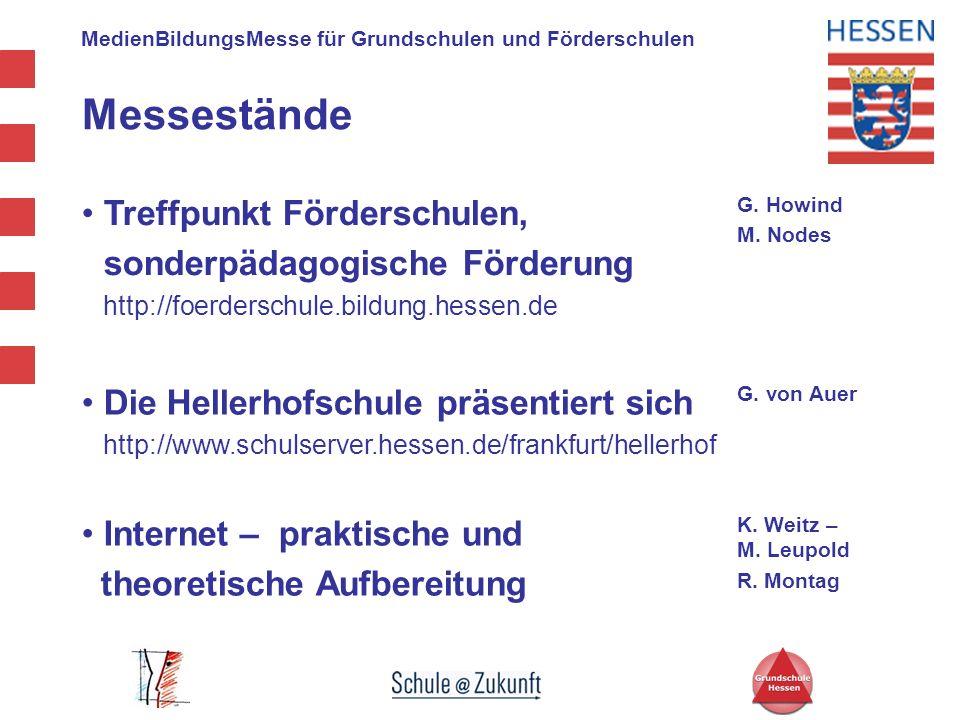 MedienBildungsMesse für Grundschulen und Förderschulen Messestände Treffpunkt Förderschulen, sonderpädagogische Förderung http://foerderschule.bildung