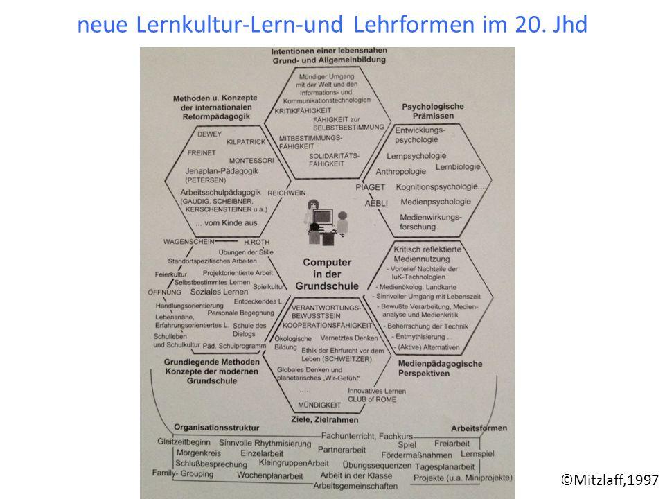 neue Lernkultur-Lern-und Lehrformen im 20. Jhd ©Mitzlaff,1997