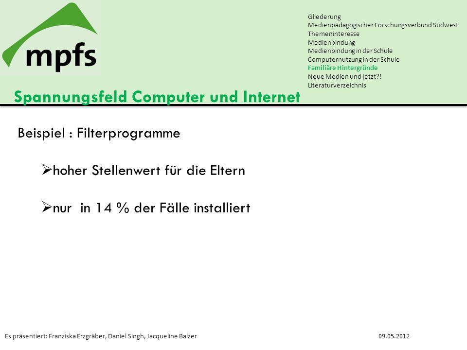 Es präsentiert: Franziska Erzgräber, Daniel Singh, Jacqueline Balzer09.05.2012 Spannungsfeld Computer und Internet Gliederung Medienpädagogischer Fors