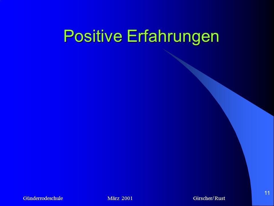 Günderrodeschule März 2001 Girscher/ Rust 10 Ängste und Sorgen III Pädagogische und didaktische Probleme Die Schüler könnten sich aus dem Internet Din