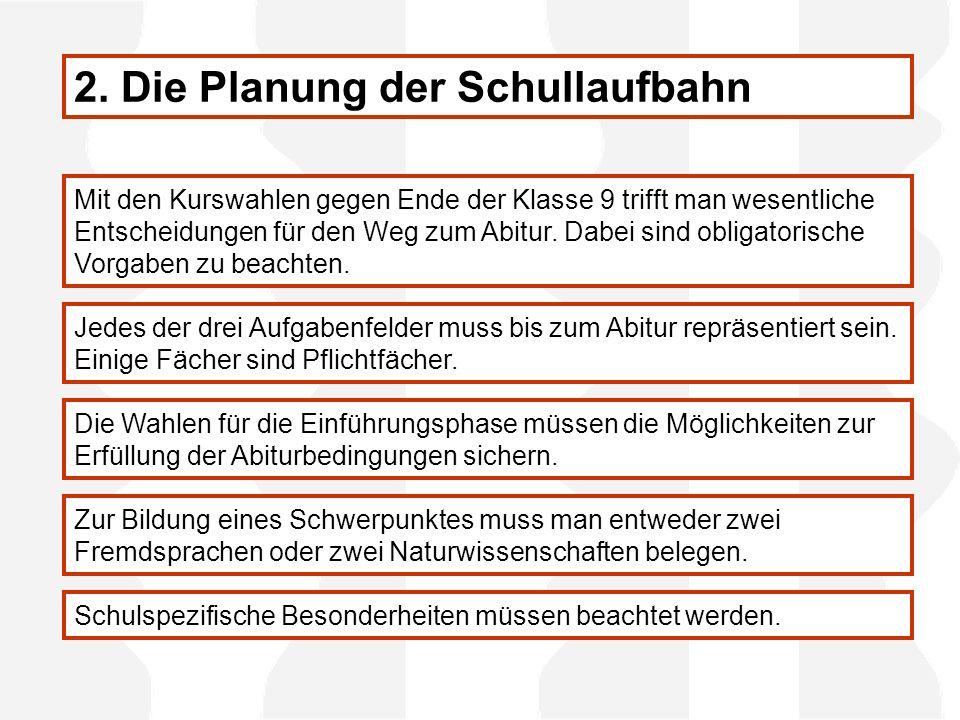 Mit den Kurswahlen gegen Ende der Klasse 9 trifft man wesentliche Entscheidungen für den Weg zum Abitur.