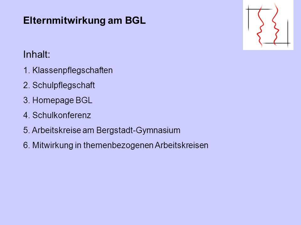 Das Recht der Eltern durch ihre Vertretungen an der Gestaltung des Schulwesens mitzuwirken, hat einen hohen Stellenwert und ist in Nordrhein-Westfalen in der Landesverfassung (Art 10, Absatz 2) verankert.