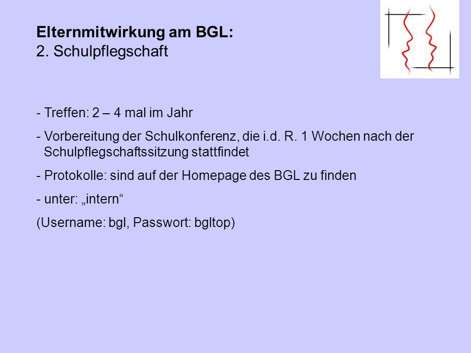 Elternmitwirkung am BGL: 3. Homepage des BGL