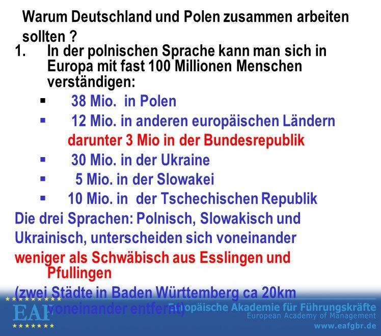 Warum Deutschland und Polen zusammen arbeiten sollten .