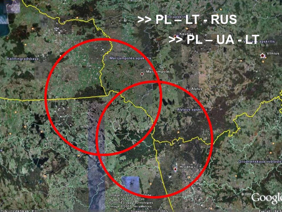 >> PL – UA - LT >> PL – LT - RUS