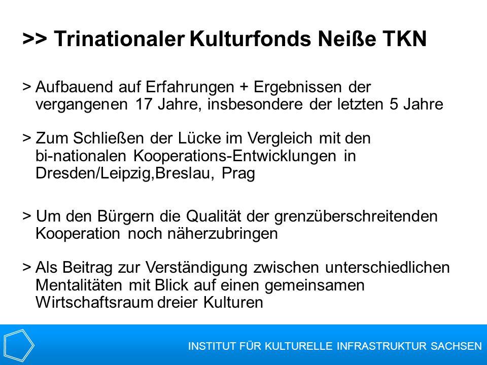 >> Trinationaler Kulturfonds Neiße TKN > Aufbauend auf Erfahrungen + Ergebnissen der vergangenen 17 Jahre, insbesondere der letzten 5 Jahre > Zum Schl