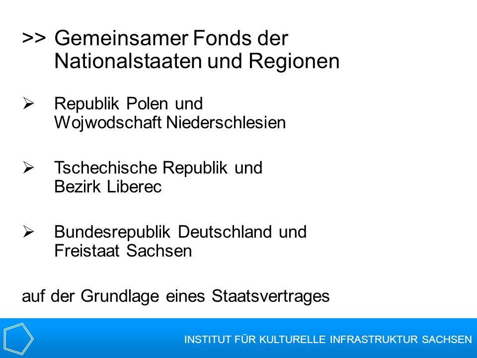 >>Gemeinsamer Fonds der Nationalstaaten und Regionen Republik Polen und Wojwodschaft Niederschlesien Tschechische Republik und Bezirk Liberec Bundesre