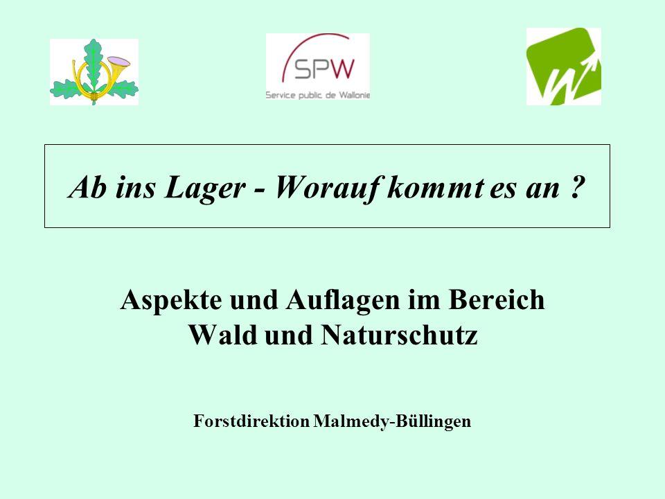 Jugendlager - Wald und Naturschutz Jugendlager = Aktivität in der Natur Standortwahl: Wiese +Wald + Wasser Nutzung = gesetzl.