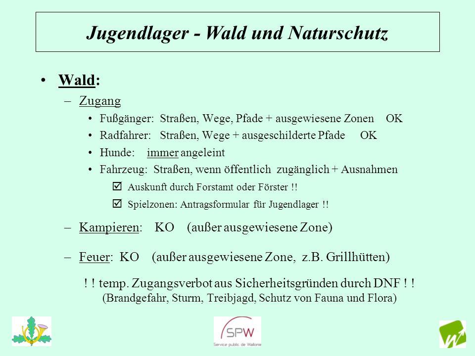 Wiese: –Zugang: OK (Eigentümer) –Ausnahme: Präsenz sensibler Lebensraum (Natura 2000) tlw.