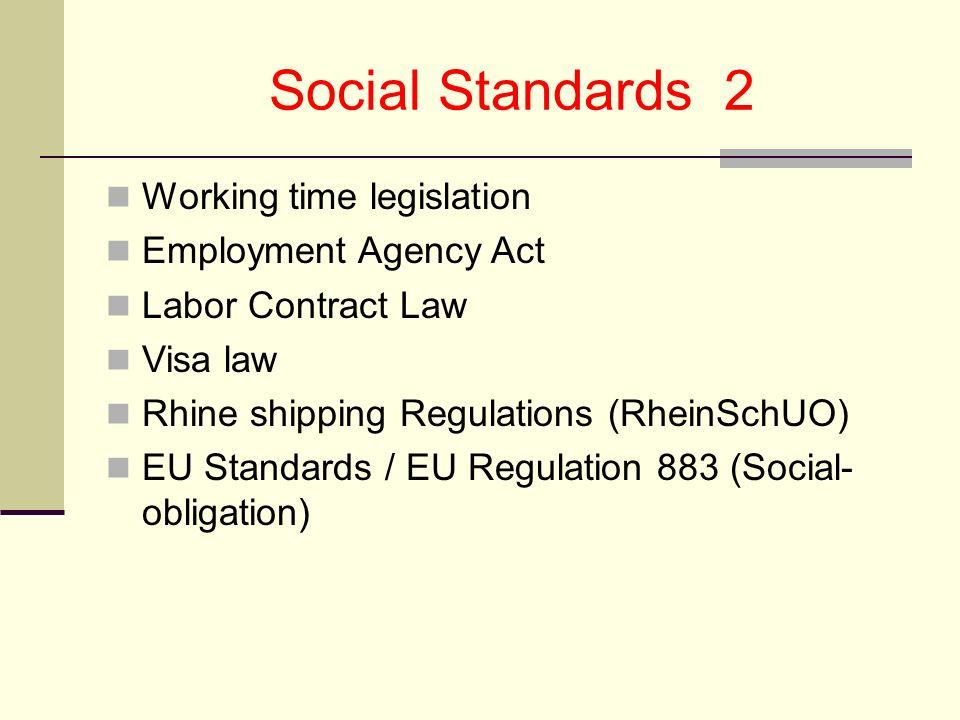 Sozialstandards / Sektoraler Sozialer Dialog Rückkoppelungspapier der ETF / EBU /ESO zur Arbeitszeit- VO in der Europ.