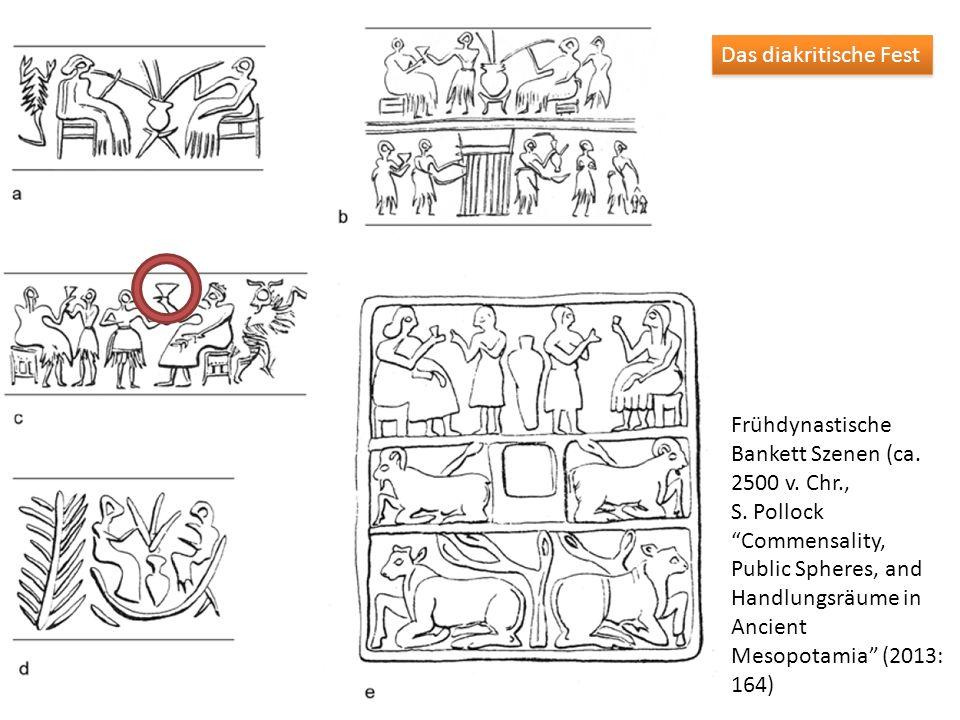 Frühdynastische Bankett Szenen (ca. 2500 v. Chr., S. PollockCommensality, Public Spheres, and Handlungsräume in Ancient Mesopotamia (2013: 164) Das di