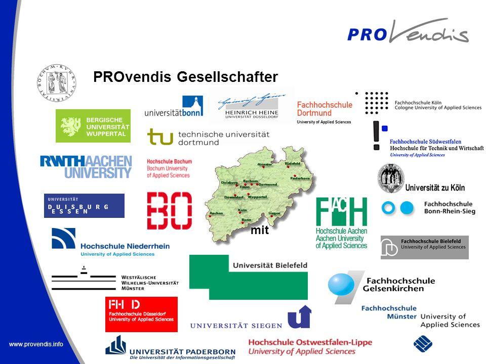 www.provendis.info PROvendis Gesellschafter mit