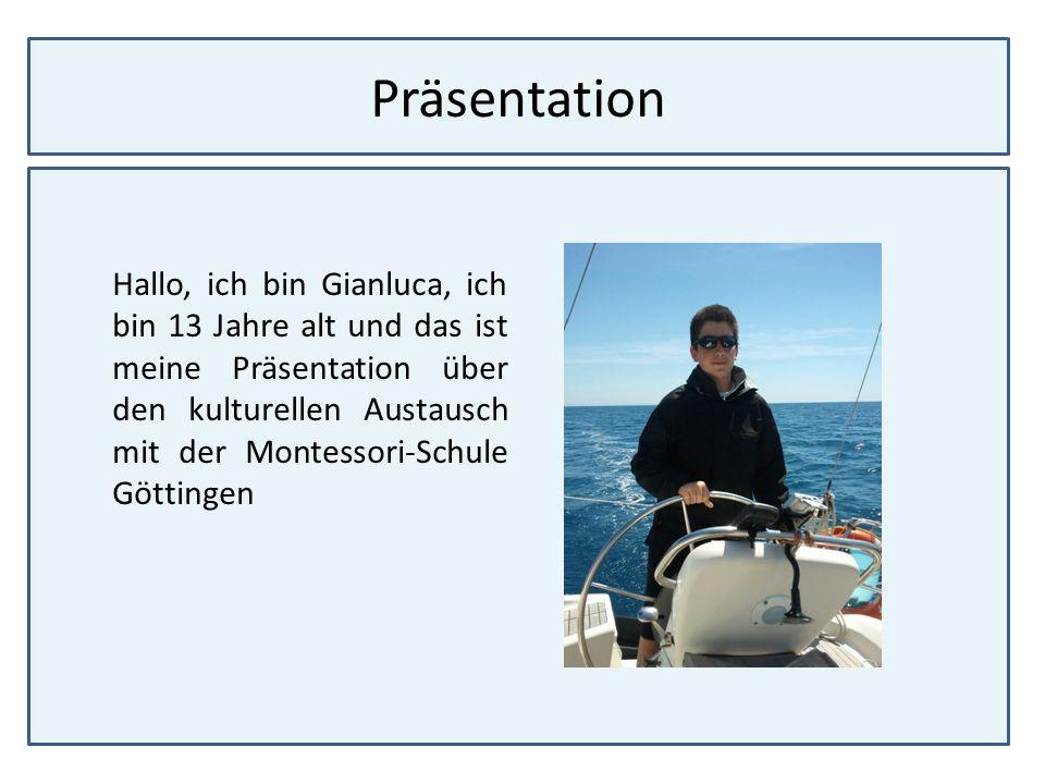 Präsentation Hallo, ich bin Gianluca, ich bin 13 Jahre alt und das ist meine Präsentation über den kulturellen Austausch mit der Montessori-Schule Göt