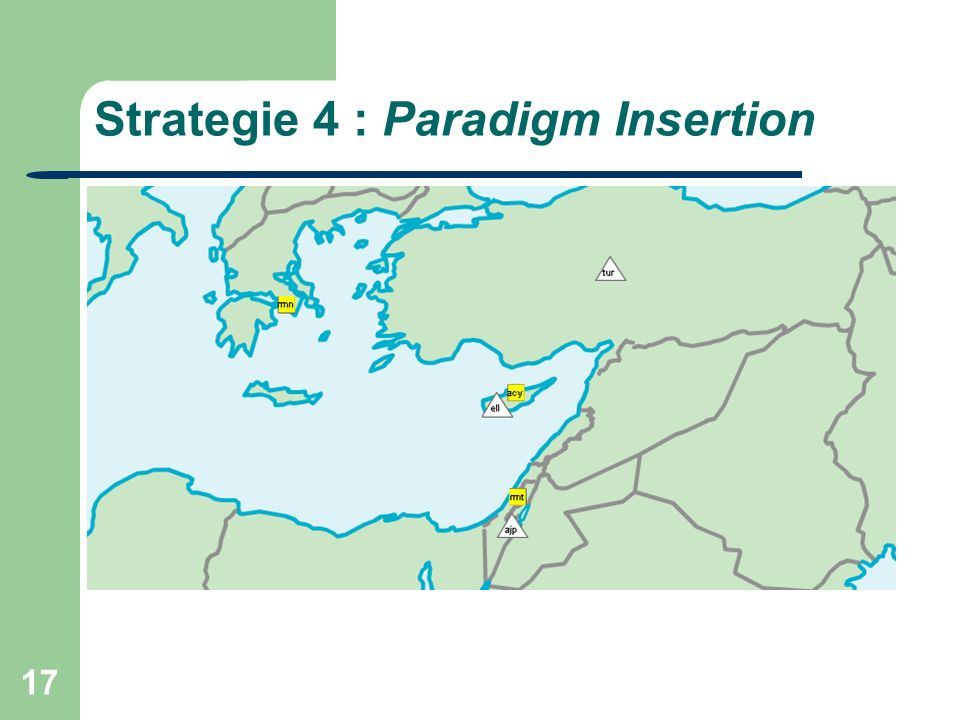 17 Strategie 4 : Paradigm Insertion